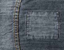 Contrassegno dei jeans Fotografia Stock