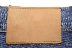 Contrassegno dei jeans Immagini Stock Libere da Diritti