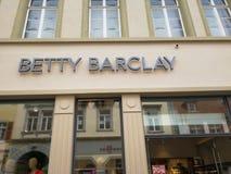 Contrassegno del deposito di Betty Barclay Immagini Stock Libere da Diritti