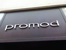 Contrassegno del deposito di Promod Immagini Stock
