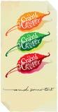 Contrassegno del documento dei peperoncini rossi caldi Immagine Stock