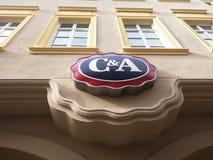 Contrassegno del negozio di vestiti di C&A Fotografia Stock