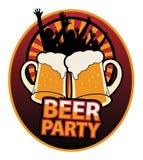 Contrassegno del partito della birra Immagine Stock