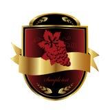 Contrassegno del vino illustrazione vettoriale