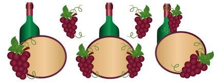 Contrassegno del vino Fotografia Stock Libera da Diritti