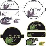 Contrassegno dell'olio di oliva Fotografia Stock