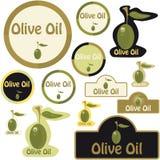 Contrassegno dell'olio di oliva Fotografie Stock Libere da Diritti