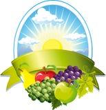 Contrassegno della frutta Fotografie Stock