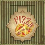 Contrassegno della pizza Fotografia Stock