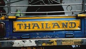 Contrassegno della Tailandia sul camioncino scoperto Fotografia Stock