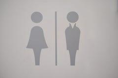 Contrassegno della toilette Fotografia Stock Libera da Diritti
