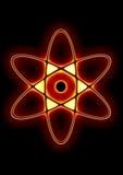 Contrassegno dello schema dell'atomo Immagini Stock