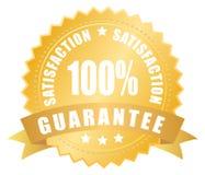 Contrassegno di garanzia di soddisfazione Fotografie Stock