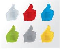 Contrassegno di gesto di mano di vettore con spazio per il vostro contenuto. Fotografia Stock