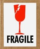 Contrassegno fragile Fotografie Stock