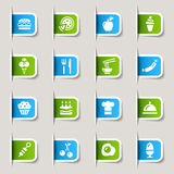 Contrassegno - icone dell'alimento Fotografie Stock Libere da Diritti