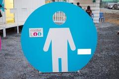 Contrassegno maschio della toilette Fotografie Stock