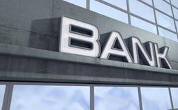 Contrassegno moderno della costruzione della Banca illustrazione vettoriale