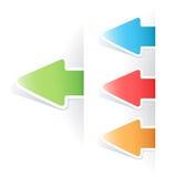 Contrassegno multicolore della freccia della modifica di vettore Fotografia Stock