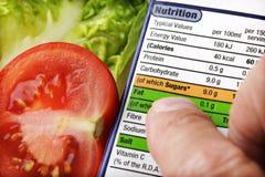 Contrassegno nutrizionale Immagine Stock Libera da Diritti