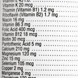 Contrassegno nutrizionale. Immagini Stock Libere da Diritti