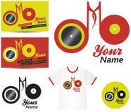 Contrassegno o logo di musica del DJ Fotografie Stock Libere da Diritti
