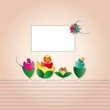 Contrassegno per la cartolina d'auguri Immagini Stock Libere da Diritti