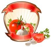 Contrassegno per un prodotto (ketchup, salsa) illustrazione di stock