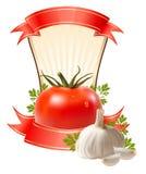 Contrassegno per un prodotto (ketchup, salsa) illustrazione vettoriale
