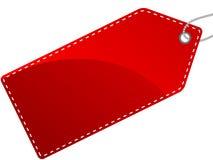 Contrassegno rosso Fotografia Stock