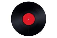 Contrassegno rosso del record di vinile Fotografia Stock