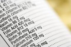 Contrassegno soddisfatto nutrizionale Immagini Stock