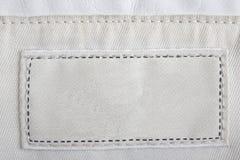 Contrassegno strutturato in bianco. Immagine Stock