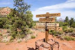 Contrassegno sulle tracce di escursione nel deserto #2 Fotografia Stock Libera da Diritti