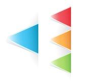Contrassegno triangolare della modifica multicolore di vettore Fotografie Stock