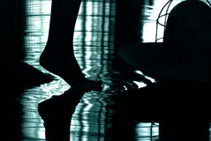 Contrast abstract. Contrast, detailed indoor photograph in pool Royalty Free Stock Photography