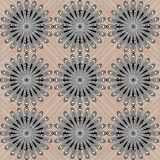 Contrast Abstracte Cirkels op Achtergrond Stock Foto's