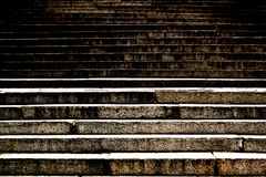 Contrast black urban stairs up underground. Prospective background royalty free stock images