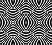 Contrast black and white symmetric seamless pattern Royalty Free Stock Images