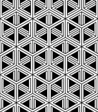 Contrast black and white symmetric seamless pattern Royalty Free Stock Photo