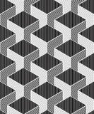 Contrast black and white symmetric seamless pattern Royalty Free Stock Image
