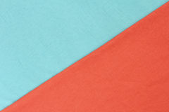 Contrast of blue and red detailed fabric texture stock photo