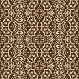 Contrast Brown Tribal Seamless Ornament Royalty Free Stock Image