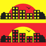 Contrast City Silhouette Vector Illustration Stock Photo