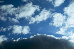 Contrast clouds Royalty Free Stock Photo