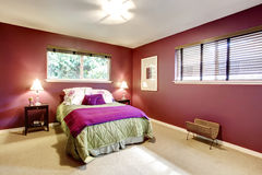 Contrast color beautiful bedroom Royalty Free Stock Photos