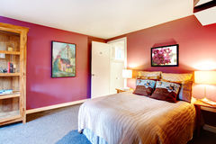 Contrast color beautiful bedroom Royalty Free Stock Photography