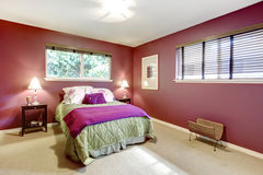 Contrast color beautiful bedroom Stock Photography