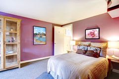 Contrast color beautiful bedroom Royalty Free Stock Images