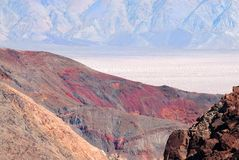 Contrast Color Death Valley Royalty Free Stock Photography